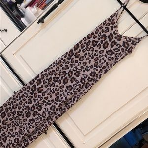 Sexy Boohoo Cheetah Print Maxi Dress
